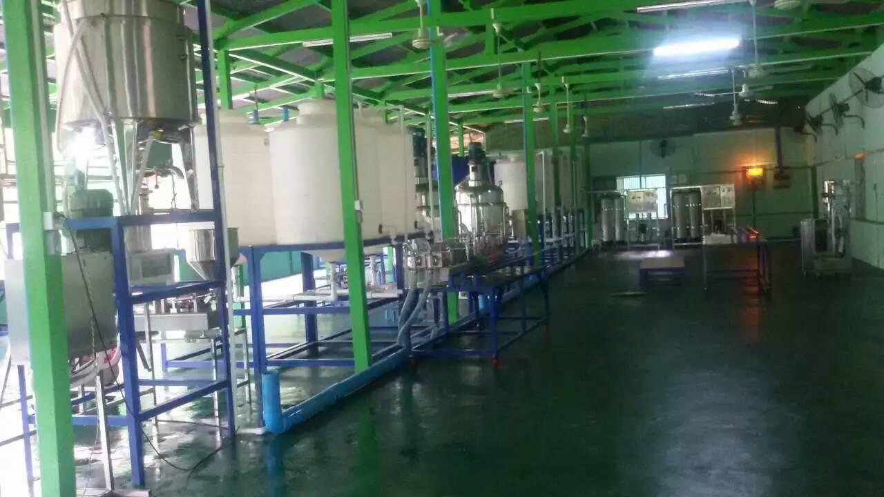 缅甸用户洗涤剂生产车间由湖南必威官网手机版日化提供betway必威体育及技术配方